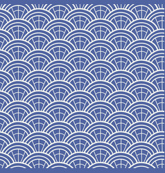 japanese chinese traditional asian blue pattern vector image