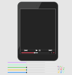 layout smartphone with multimedia player vector image