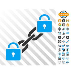 lock blockchain cards with bonus vector image