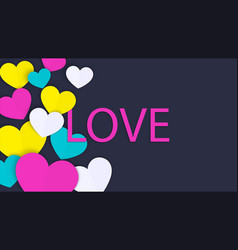 love word valentines day concept background vector image