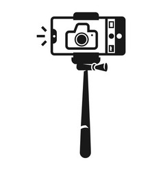 Monopod selfie con simple style vector