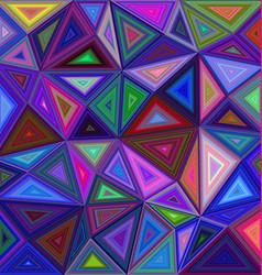 Multicolor triangle mosaic background design vector