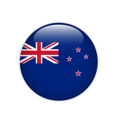 new zealand flag on button vector image