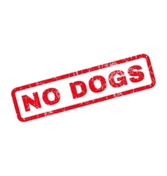 No dogs rubber stamp vector