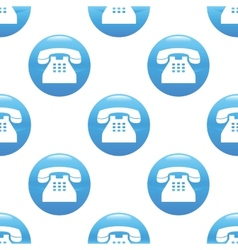 Old phone sign pattern vector image