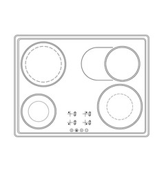 oven cooktop outline drawing vector image