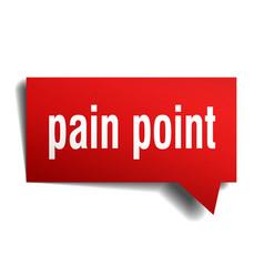 Pain point red 3d speech bubble vector