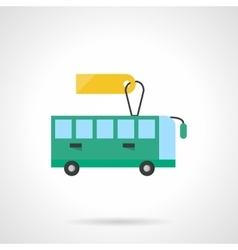 Passenger transportation flat color icon vector