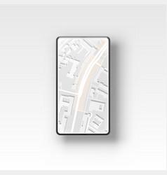 phone gps navigation map compass application city vector image