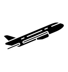Plane flying up glyph icon vector