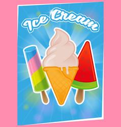 poster ice cream vector image