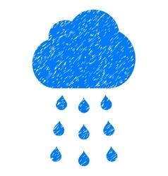 Rain Cloud Grainy Texture Icon vector