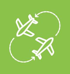 Round travel flights vector