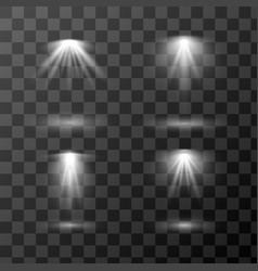 set different light sources isolated on vector image