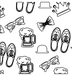 Shoes hat glasses and beer design vector