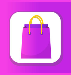 shopping bag icon flat style colorful shopping vector image