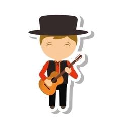 Spanish flamenco man avatar vector