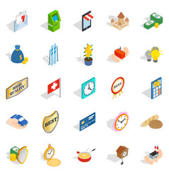 Specie icons set isometric style vector