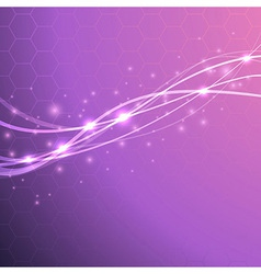 Speed waves - bright background with sparkles vector
