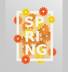 Spring flower and weeding design elements vector