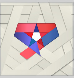 Star ribbon papercut vector