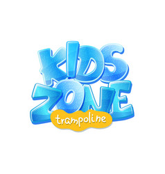 trampoline kids zone banner for children vector image