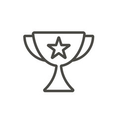 trophy icon line champion cup symbol vector image
