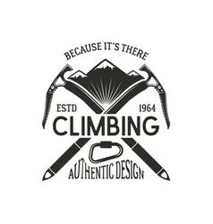 Vintage climbing badge climbing logo vintage vector