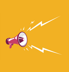 vintage megaphone retro megaphone on the vector image