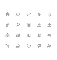 website icons 32 pixels icons white series vector image