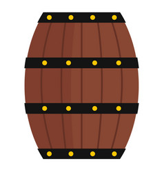 wine wooden barrel icon isolated vector image