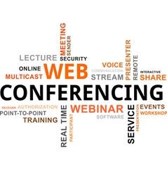 word cloud web conferencing vector image