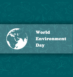 world environment day ecology background vector image