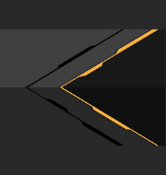 yellow line arrow on grey metal design modern vector image