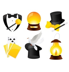 Conjurer icons vector image