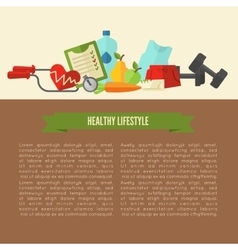 Healthy lifestyle wellness concept vector image vector image