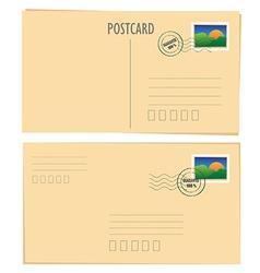 postcard vector image vector image