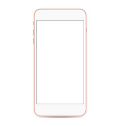 smartphone mockup with blank screen isolated on vector image vector image