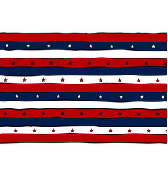striped patriotic background with stars vector image