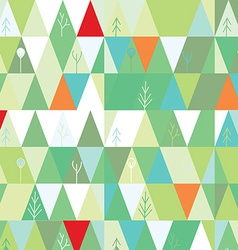 Winter tree background in geometric style vector image