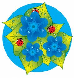 bugs on leaf vector image vector image