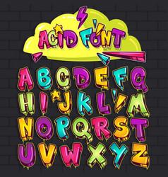 graffiti acid font vector image