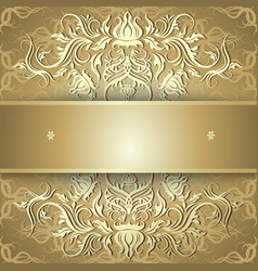 Luxury gold background with ornament vector image vector image