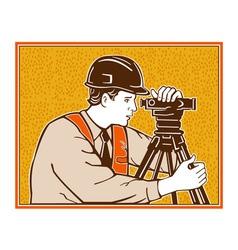 Surveyor Geodetic Civil Engineer Retro vector image vector image