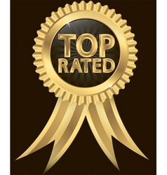Top Rated Awards vector image