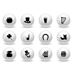 web buttons st patricks day icons vector image