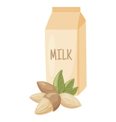 almond milk vector image