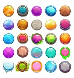 Big set of cartoon round buttons vector image vector image