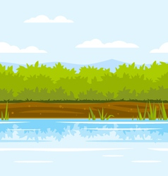 Bushes Game Background vector image vector image