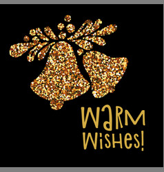 christmas banner warm wishes vector image vector image
